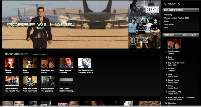 iTunes Music Videos Store